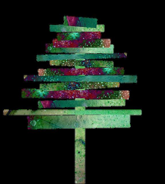Papier-Weihnachtsbaum basteln, einfach