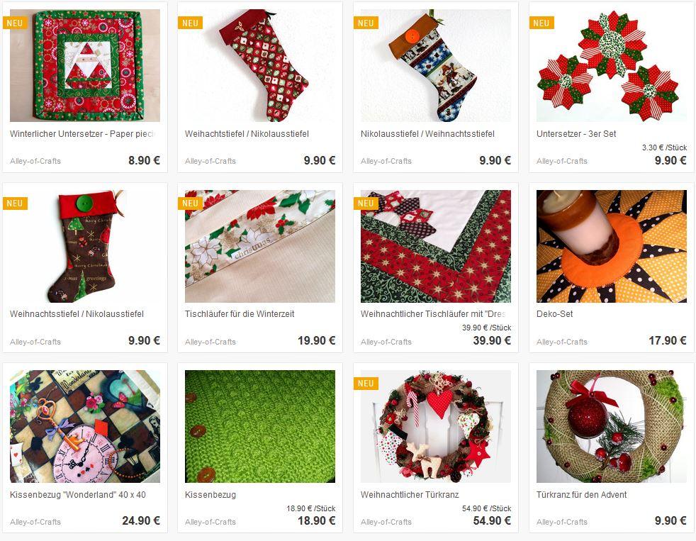Alley of Crafts – handgemachte Weihnachtsdeko