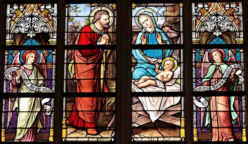 kirchenfest mit Maria, josef und Jesus